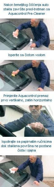 AQUACONTROL - premaz za avto stekla , ki odbija dežne kaplje in snežinke od steklenih površin!